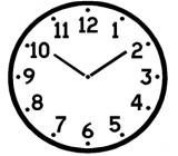 quadrante orologio indicante le ore 10 e 10