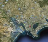 veduta dall'alto area vasta Cagliari