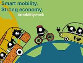 logo dell'iniziativa raffigurante veicoli a pedali