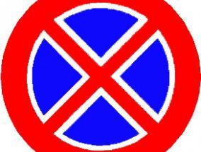 cartello stradale divieto di sosta e fermata