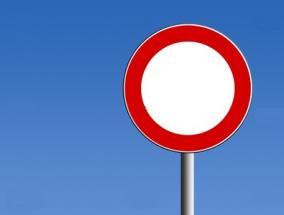 cartello stradale divieto di transito