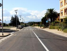 veduta ingresso Sestu dalla via Cagliari