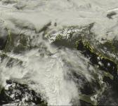 cartina meteorologica dell'italia con intensi annuvolamenti